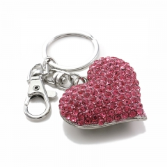 Promotional Decoration Heart Shape Keychain With Custom Logo