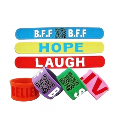 Large and Detachable Silicone Wristband with QR Codes for Sa