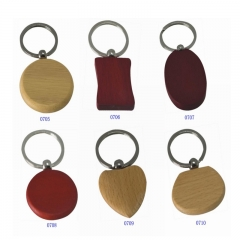Hot Sell Wooden Made Keychain Fashion Lovely Design