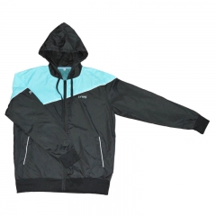 Custom colors jacket , blue and black polyester windbreaker