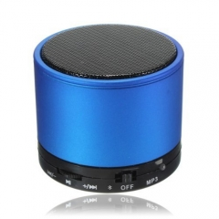 Cheap Promotional Round Metal Mini Bluetooth Speaker with FM